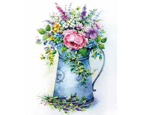 """Алмазная вышивка """"Романтичный букет в лейке"""" 40х50"""