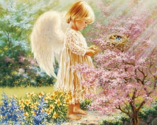 Алмазная вышивка Маленький Ангел 40х50