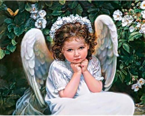Алмазная вышивка Портрет Ангела 40х50