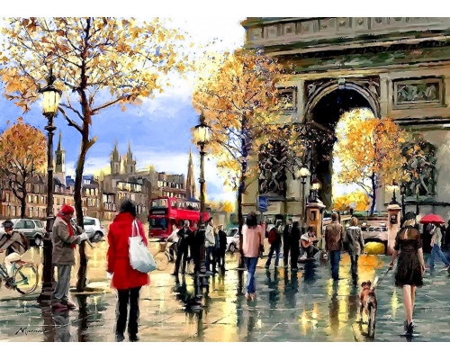 Алмазная вышивка Мой любимый Париж 40х50