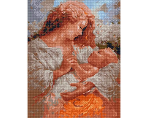 Алмазная вышивка Радость материнства 40х50