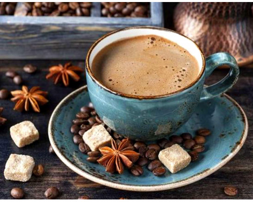 Алмазная вышивка Утро с кофе по - восточному 40х50