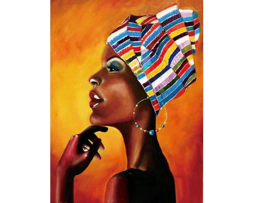 Алмазная вышивка Портрет африканки