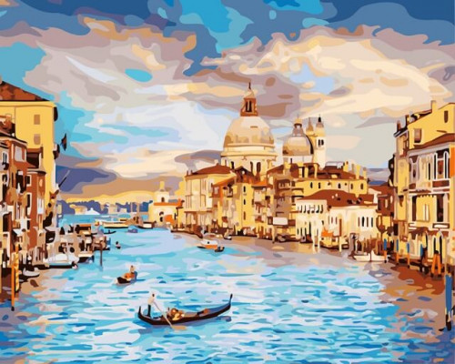 Алмазная вышивка Очарование Венеции (без подрамника) 30х40