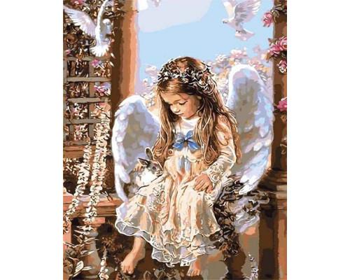Алмазная вышивка Ждущий ангел (без подрамника), 40*50