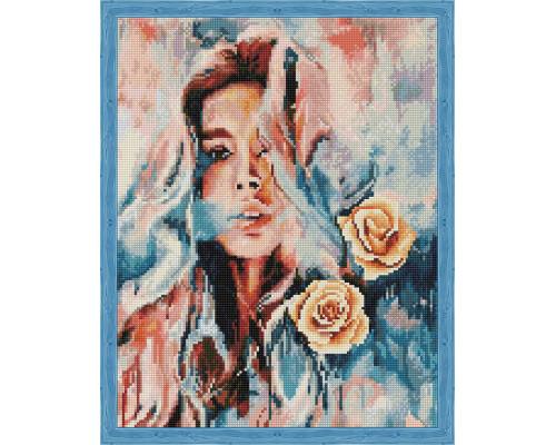 Алмазная вышивка Девушка и розы 40*65