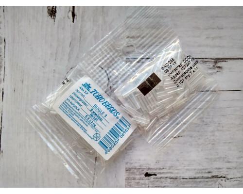 "Бисер ""TOHO"" BUGLE №3 9мм 5 г, 0141 белый/перл"