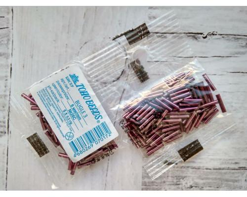 """Бисер """"TOHO"""" BUGLE №3 9мм 5 г, 0026C фиолетовый"""