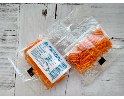 "Бисер ""TOHO"" BUGLE №3 9мм 5 г, 0042D оранжевый"