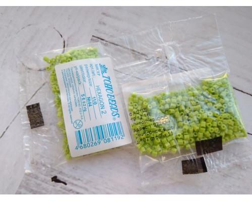 "Бисер ""TOHO"" 11/0 HEXAGON №2 2,2мм 5 г, 0044 салатовый"