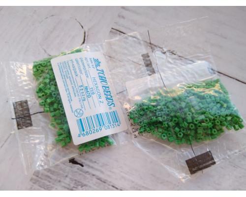 """Бисер """"TOHO"""" 11/0 HEXAGON №2 2,2мм 5 г, 0047D зеленый"""