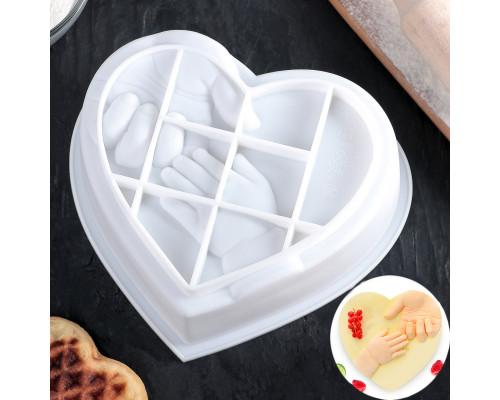 Форма для муссовых десертов и выпечки «Помощь близкого», цвет белый