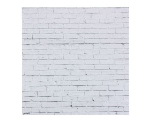 "Фотофон ""Кирпич белый"", 46х49 см"