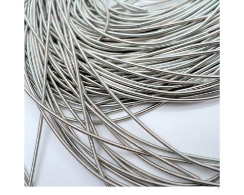 Канитель гладкая серебро глянец. 1мм