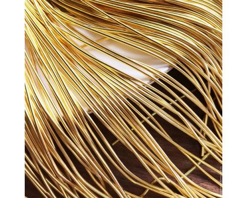 Канитель гладкая золото красное 1мм