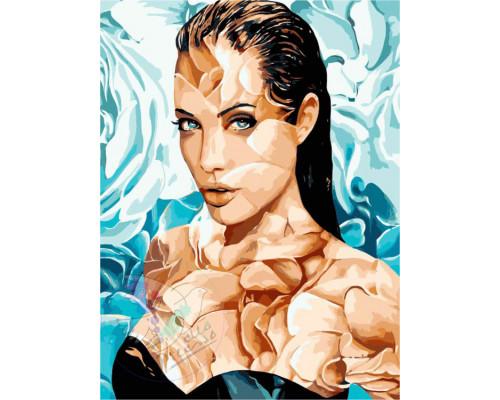 """Картина по номерам """"Анджелина Джоли"""" 40*50см"""