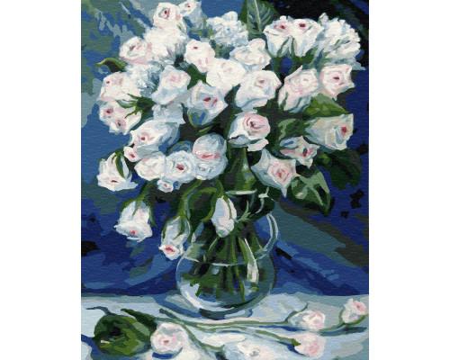 "Картина по номерам ""Букет белых роз"", 30х40см"