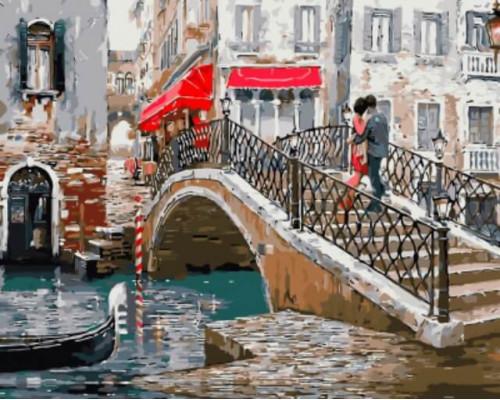 """Картина по номерам """"Венецианский мостик"""" 40*50см"""