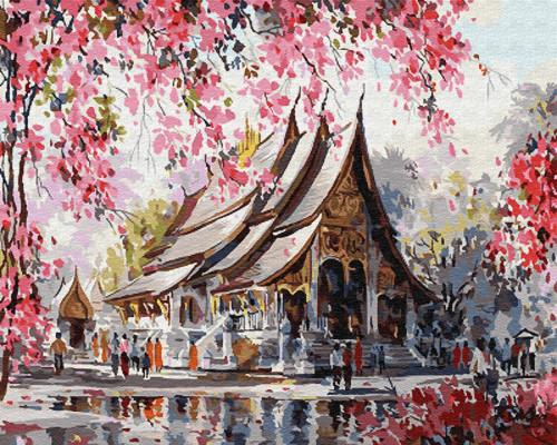 """Картина по номерам """"Весенний Тайланд"""" 40*50 см"""