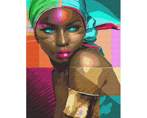 "Картина по номерам ""Африканка"" 40*50см"
