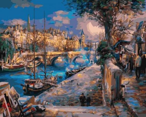 """Картина по номерам """"Вечерняя Венеция"""" 40х50"""