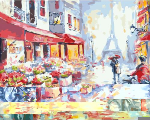 "Картина по номерам ""Вдвоем по Парижу"" 40х50"