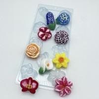 Форма для мыла пластиковая, Цветочное ассорти 2