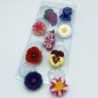 Форма для мыла пластиковая, Цветочное ассорти 1