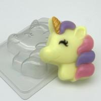 Форма для мыла пластиковая, Единорог мультяшный - Профиль