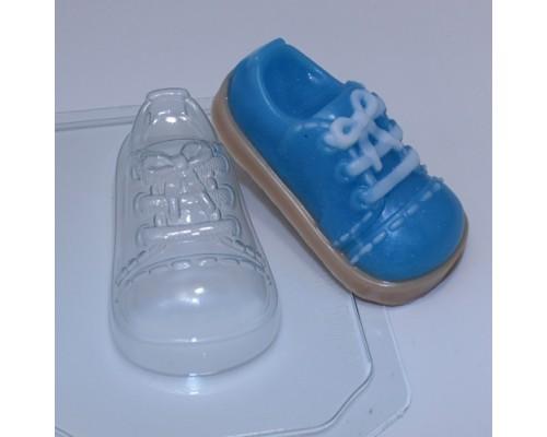 Форма для мыла пластиковая, Ботинок детский