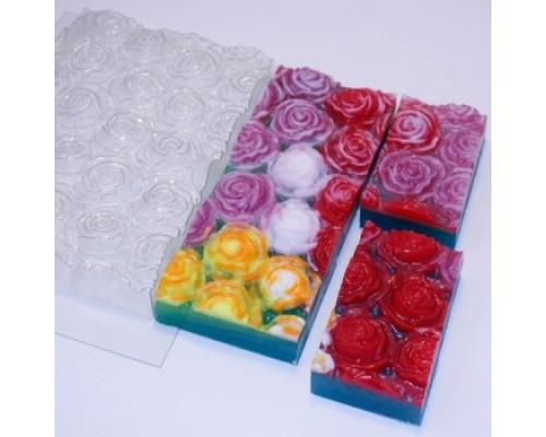 Форма для мыла пластиковая, Розы под нарезку