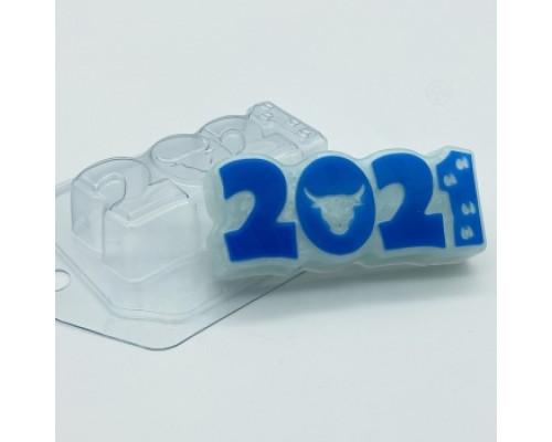 Форма для мыла пластиковая, 2021 - Бык и следы