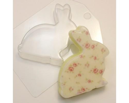 Форма для мыла пластиковая, Кролик Плоский