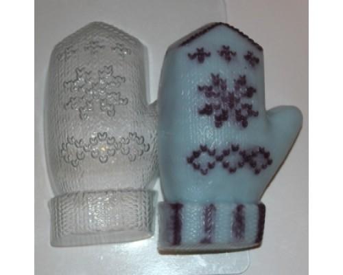 Форма для мыла пластиковая, Варежка