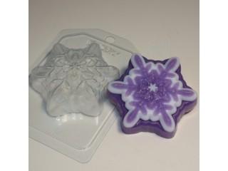 Форма для мыла пластиковая, Снежинка 5