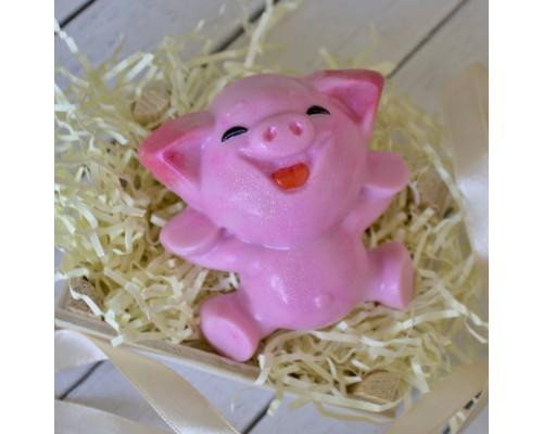 """Пластиковая форма """"Веселая свинка"""""""