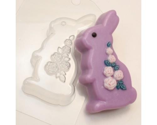 Форма для мыла пластиковая, Кролик Розы