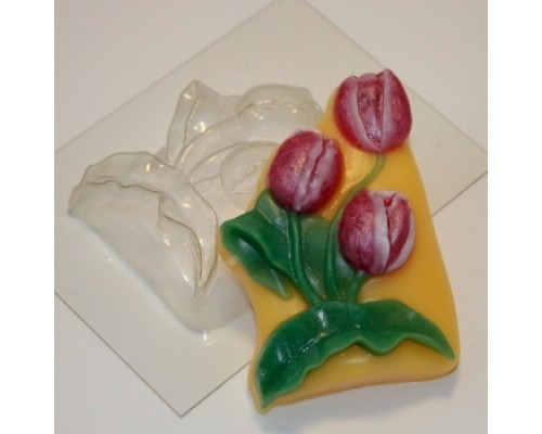 Форма для мыла пластиковая, Тюльпаны большие