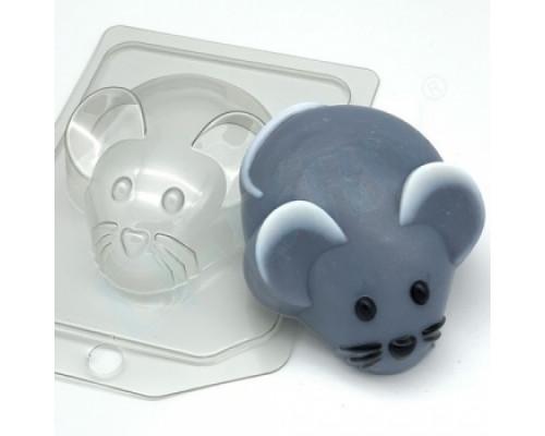 Форма для мыла пластиковая, Мышь - Вид сверху