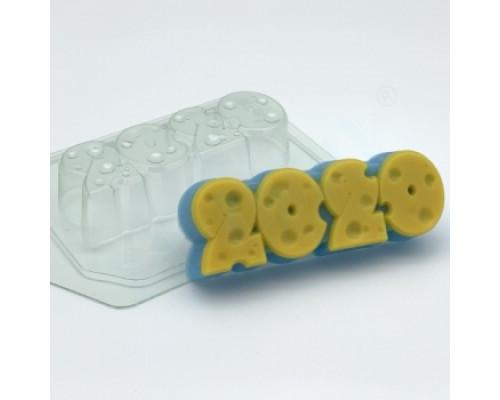 Форма для мыла пластиковая, 2020 - Сырные цифры