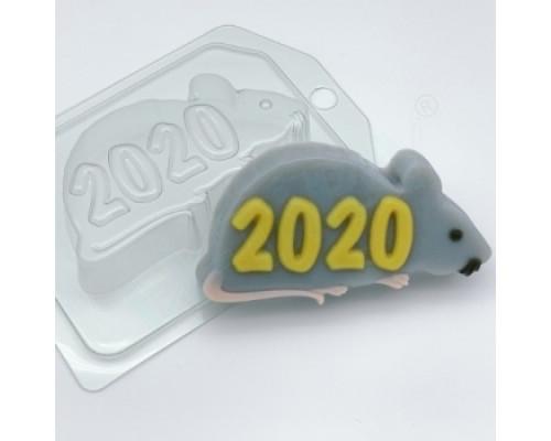 Форма для мыла пластиковая, 2020 - На силуэте крысы