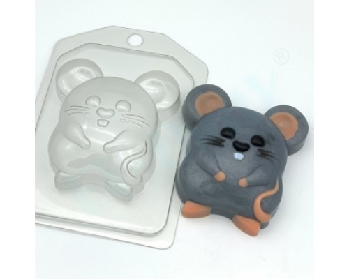 Форма для мыла пластиковая, Мышь-полевка