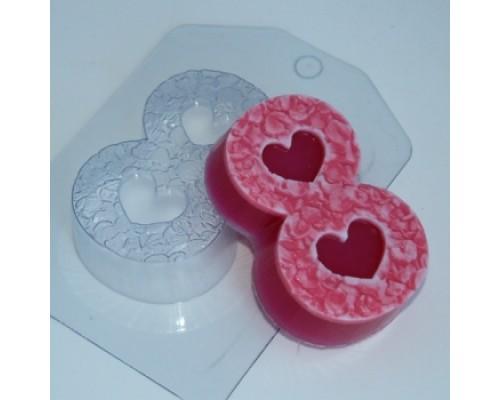 Форма для мыла пластиковая, 8 марта - Лепестки