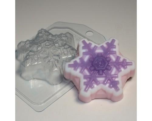 Форма для мыла пластиковая, Снежинка 4