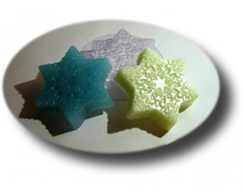 Форма для мыла пластиковая, Снежинка МФ