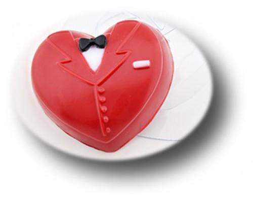 Форма для мыла пластиковая, Мужское сердце 2
