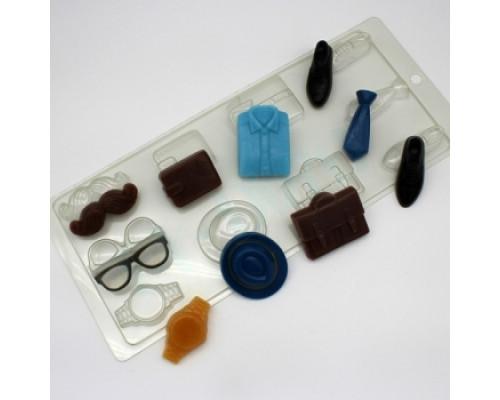 Форма для мыла пластиковая, Ассорти Мужской набор