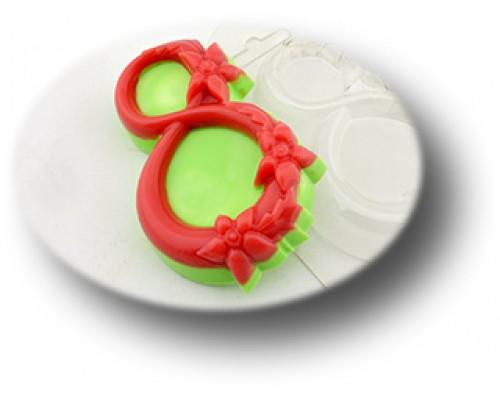 Форма для мыла пластиковая, Восьмерка в цветах