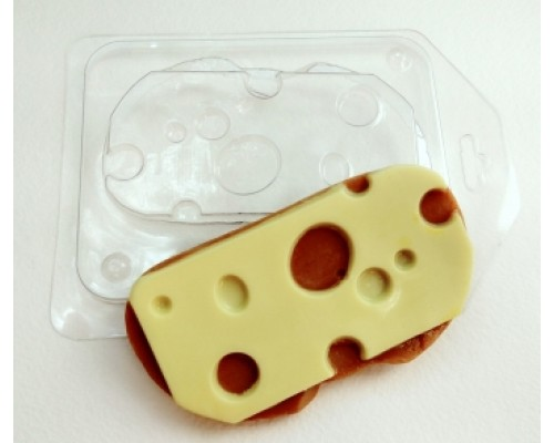 Форма для мыла пластиковая, Бутерброд с сыром