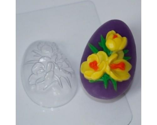 Форма для мыла пластиковая, Яйцо Крокусы